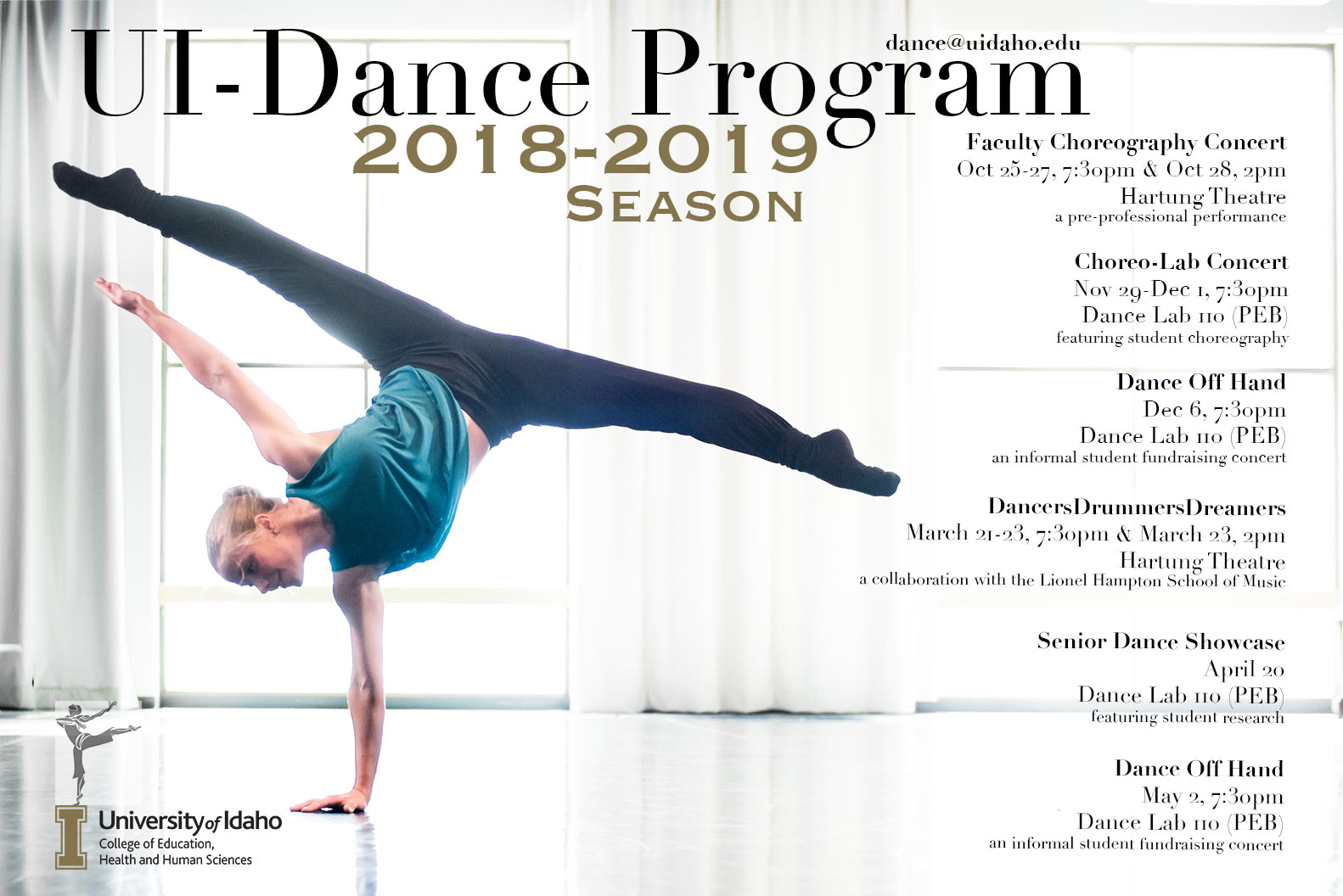 Poster for the 2018-19 Dance Season