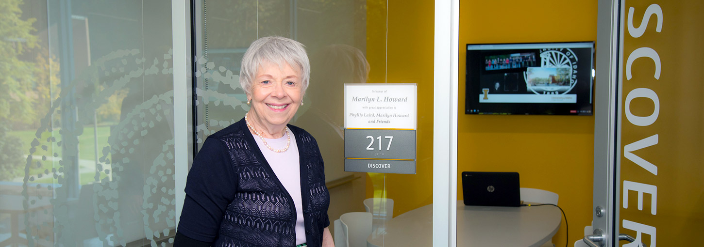 Marilyn Howard near Discover room