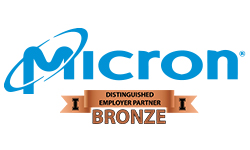 Micron Distinguished Employer Partner Bronze logo