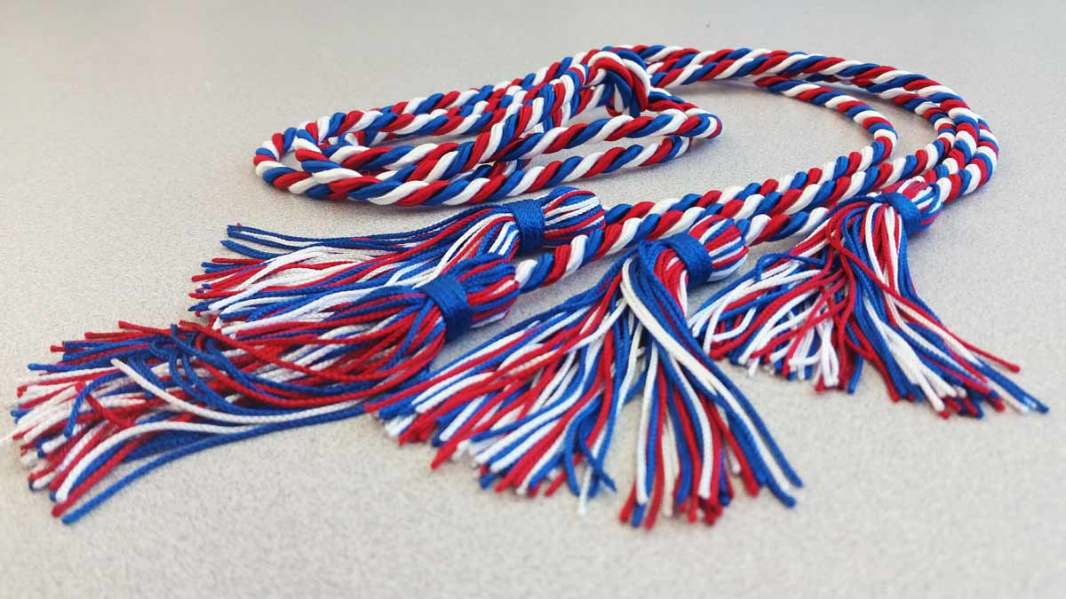 Honor cords are free to wear during graduation