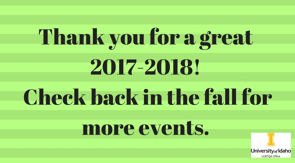 Thank you for a great 2017-2018.  Check back in the fall for more events.