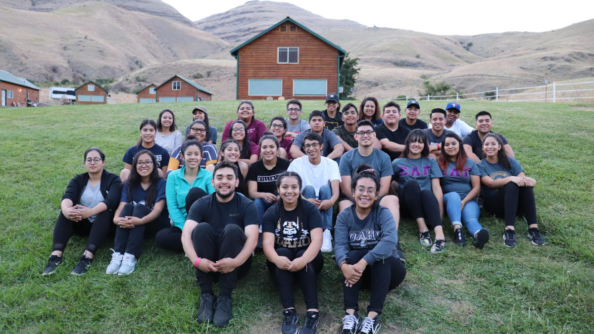 Multicultural Student Leaders representing their organizations at the UNITY retreat in September 2018.