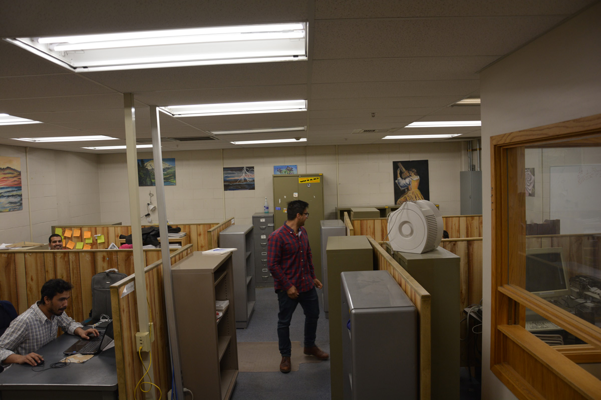 The old graduate student offices