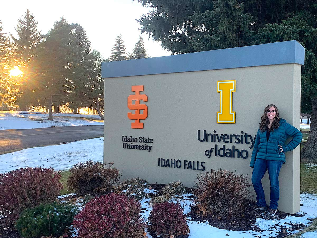 Leigh Ann Emerson, a doctoral student in nuclear engineering at the University of Idaho, is also a project manager for fuels and materials experiments at the Idaho National Laboratory.
