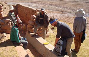 Nate Suhr with Engineers without borders in Chiwirapi, Bolivia