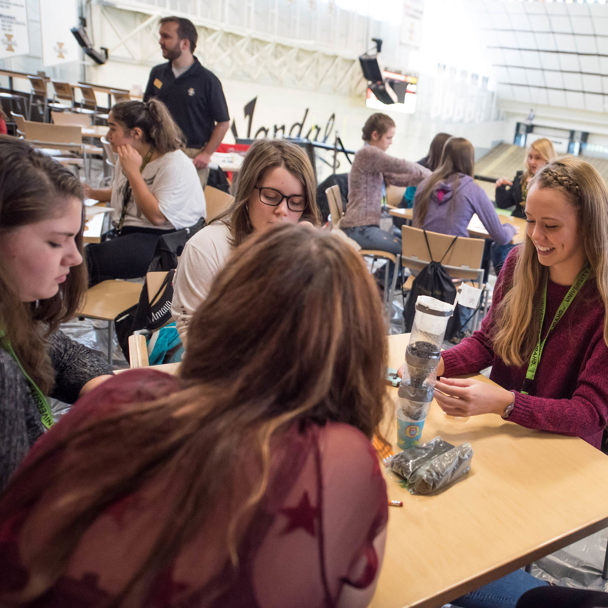 Students at Women in Engineering Day 2017
