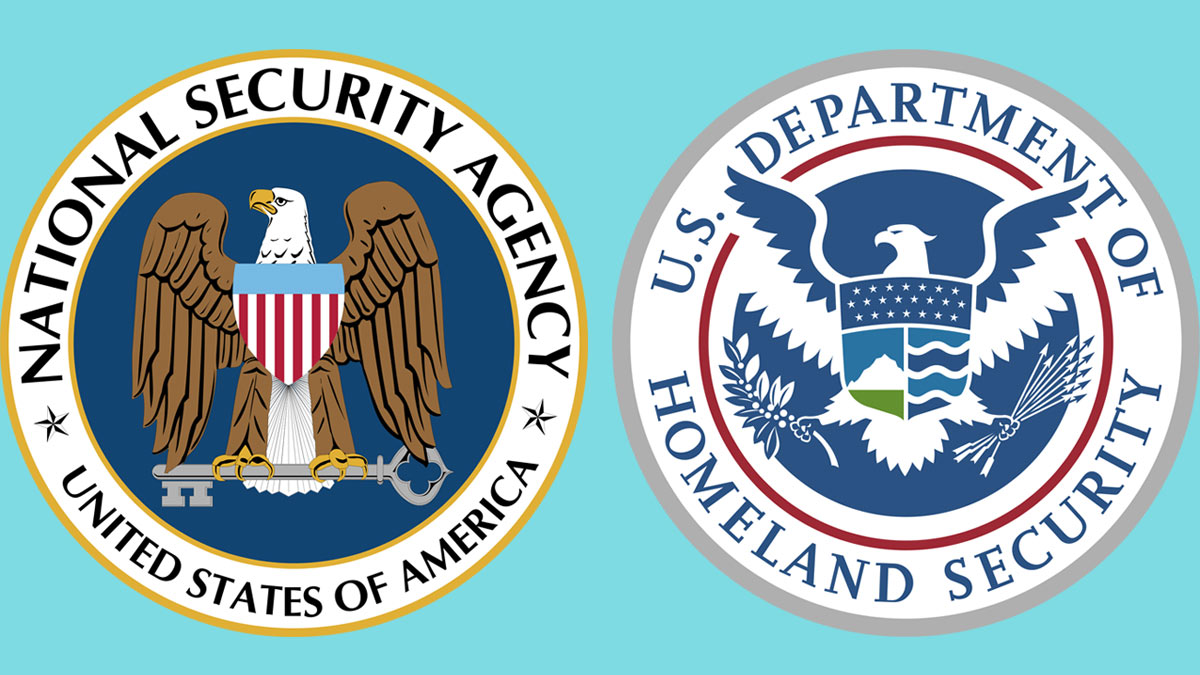 Homeland Security Agency and the Department of Homeland Security logos