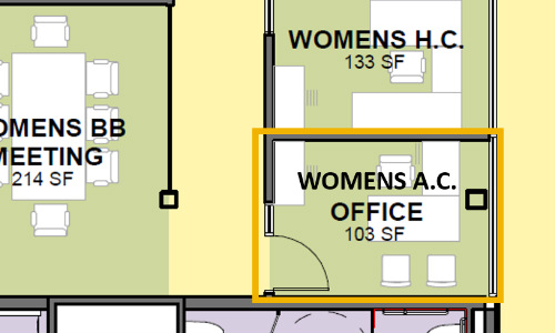 ICCU Arena Womens AC Office