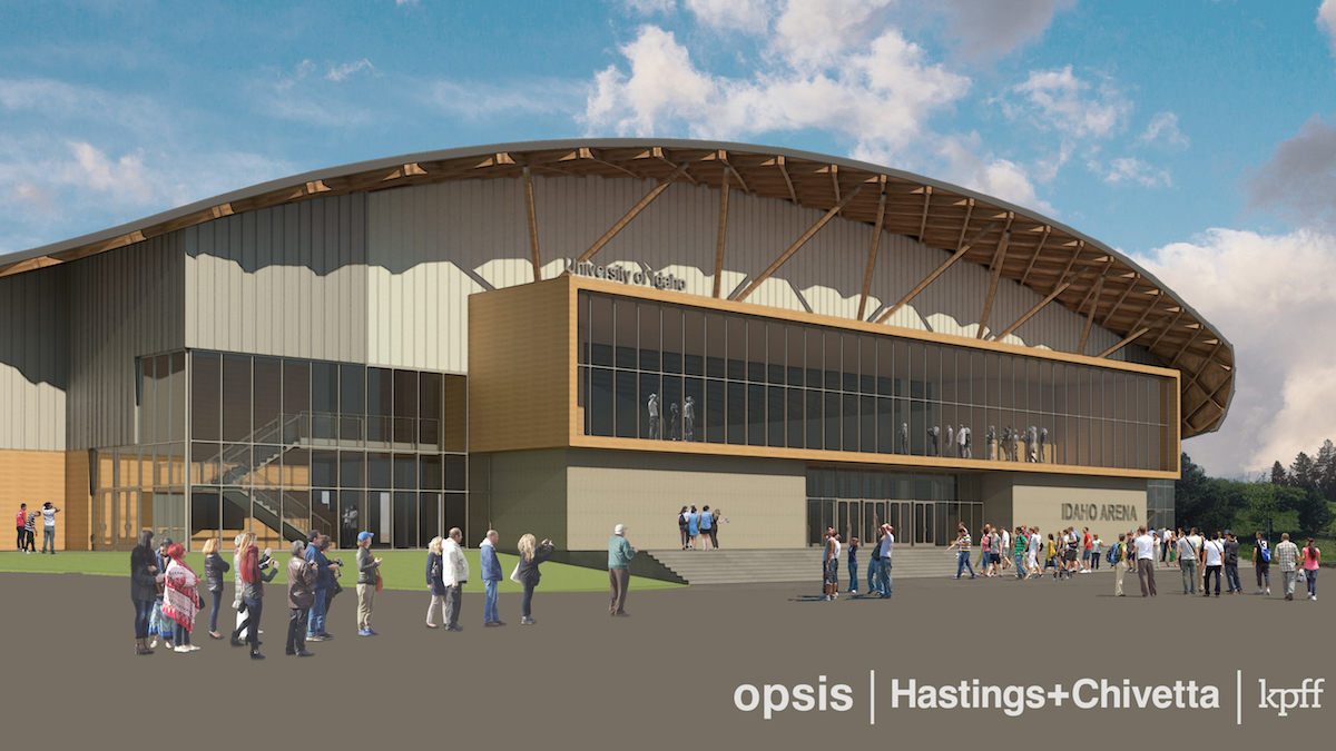 Idaho Arena Rendering, Northeast View