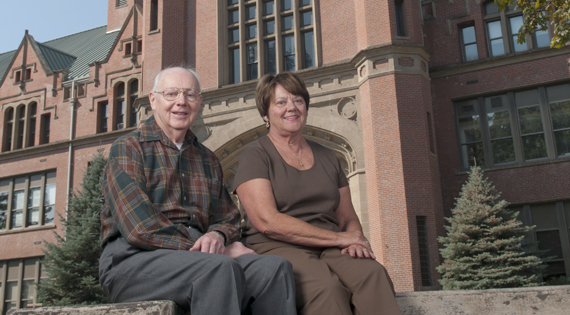 Robert C. Youngstrom '57, '62, Boise and his sister Mary Youngsgtrom Stunz '61, California.