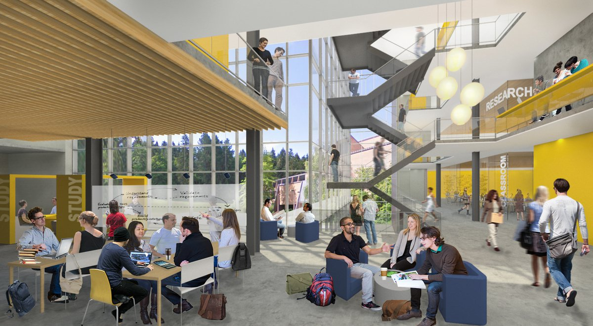 An artists rendering of the interior view for the new education building.