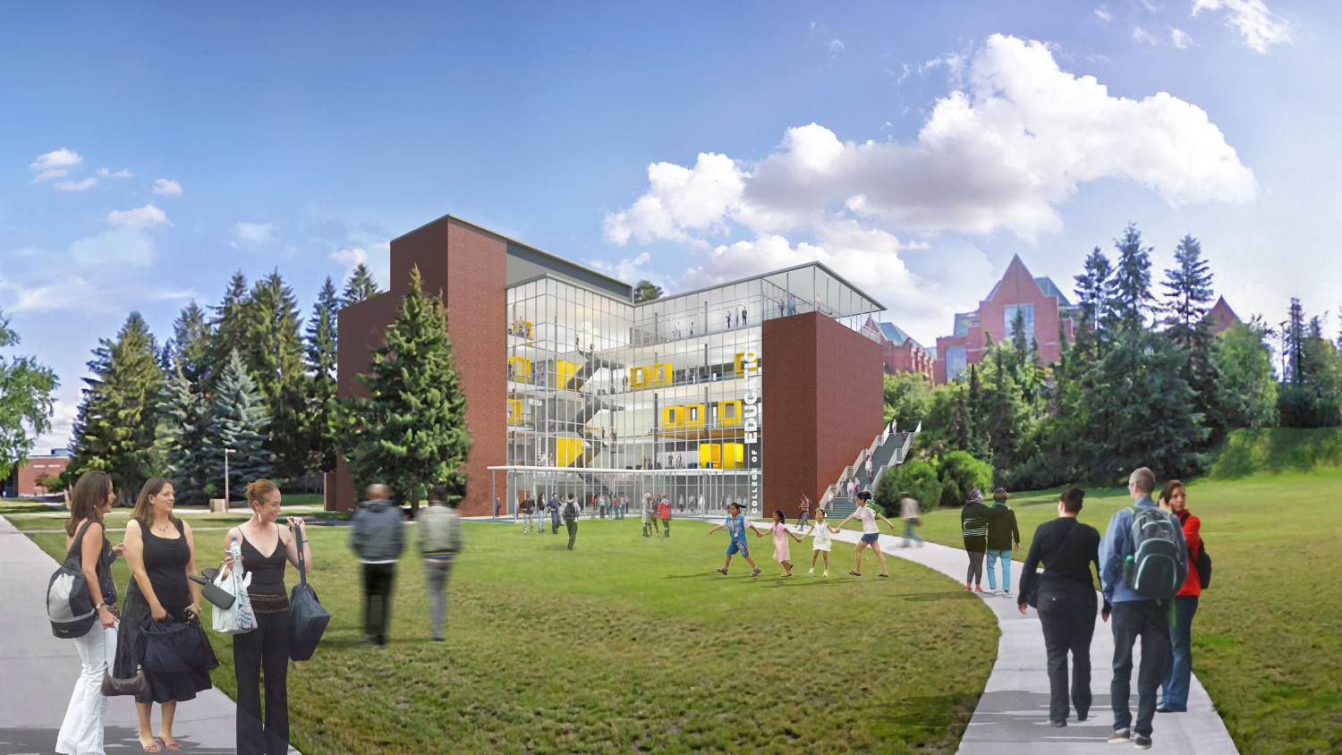 An artist rendering of the new education building design.