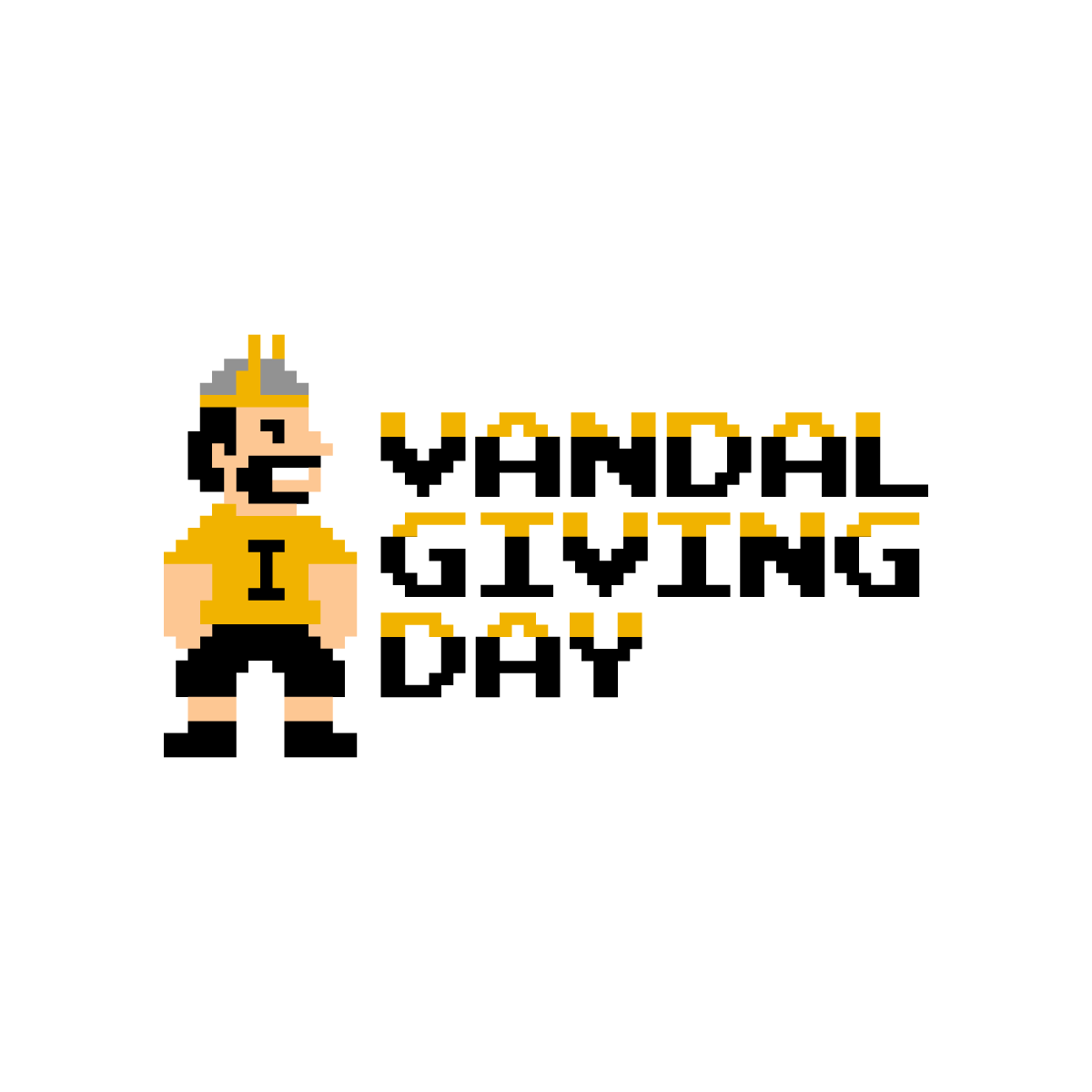 Vandal Giving Day Black and Gold Logo