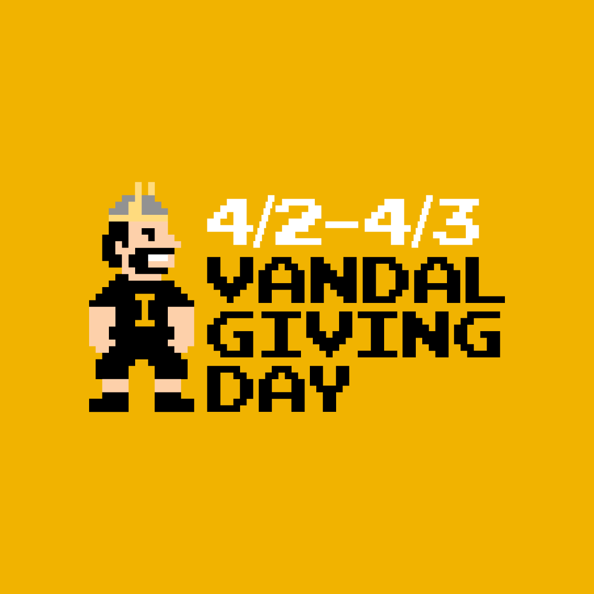 Vandal Giving Day Gold Logo