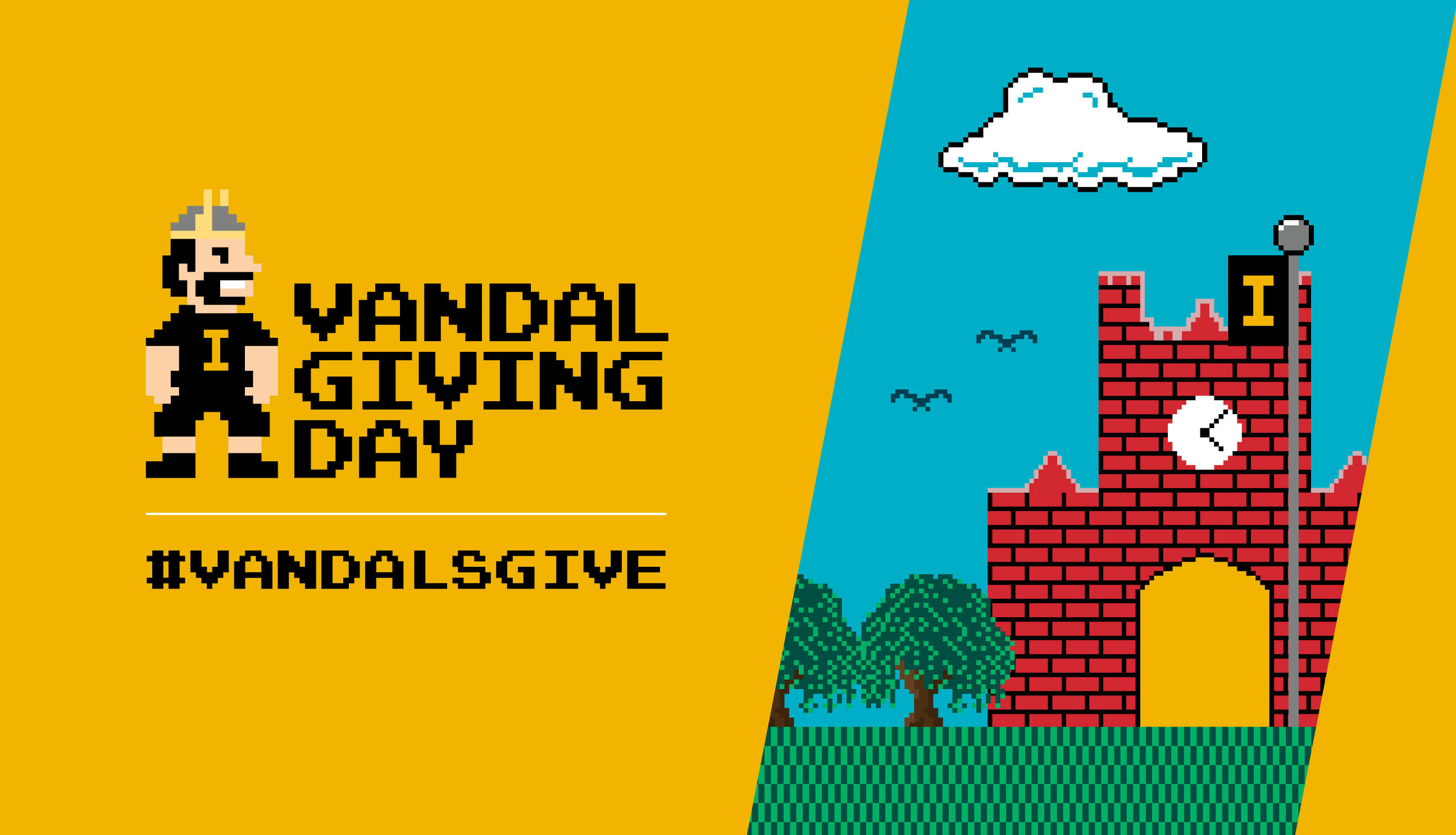 Vandal Giving Day 8-bit Joe and Commons