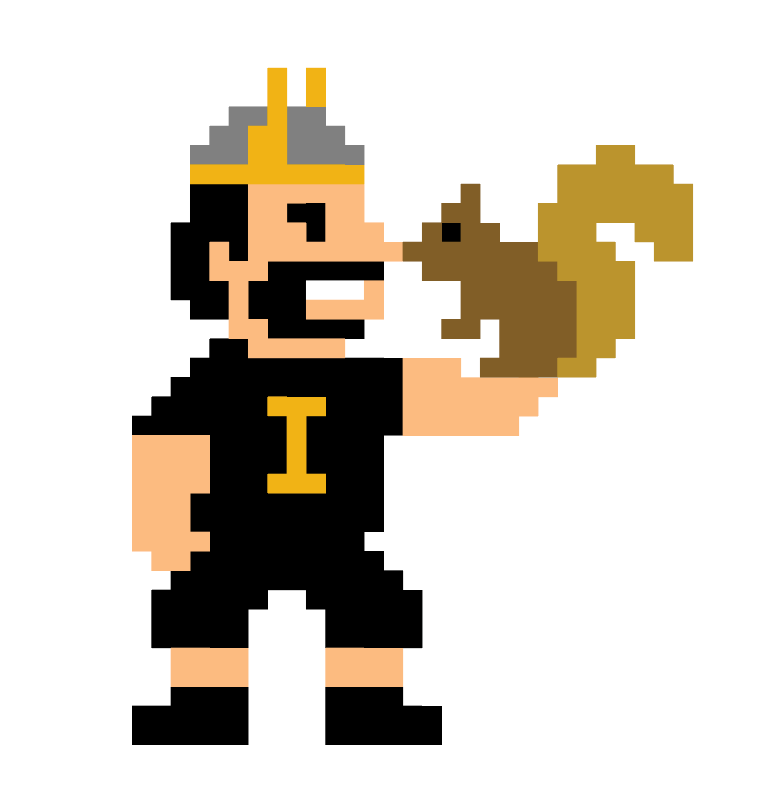 Vandal Giving Day 8-bit Joe and Squirrel