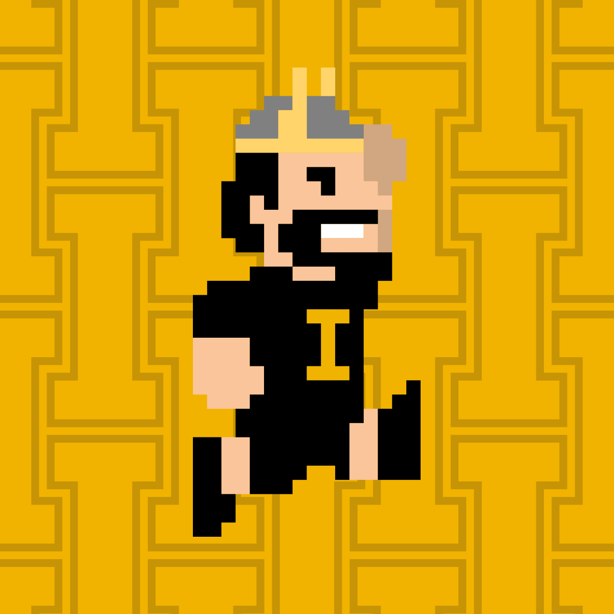 Vandal Giving Day Profile Picture 8-bit Joe Gold Jump