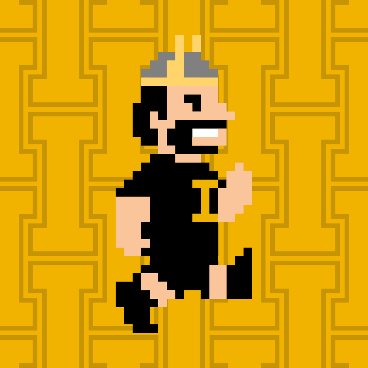 Vandal Giving Day Profile Picture 8-bit Joe Gold Run