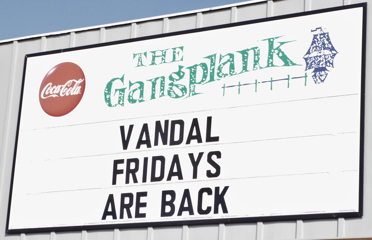 Gangplank billboard: Vandal Fridays are back!