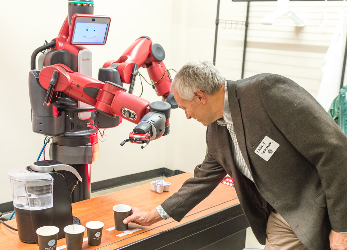 Baxter, the 300 lb. coffee-making robot, and Larry Stauffer