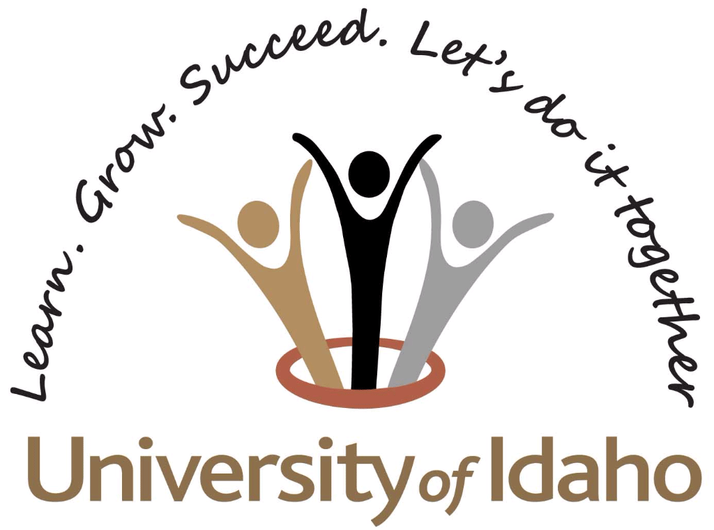 University of Idaho Professional Development and Learning logo: Learn, Grow, succeed, let;st do it together.