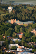 An aerial view of the University of Idaho's Moscow campus.