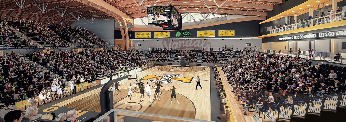 An artist's rendering of the interior of the ICCU arena.