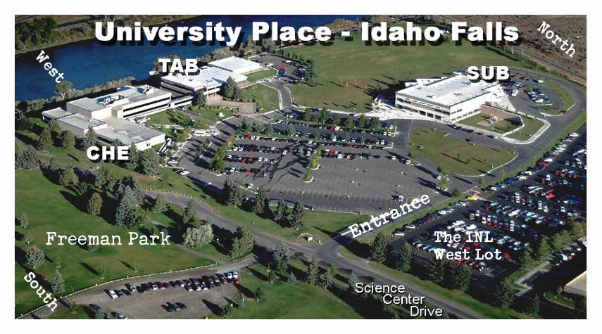 Idaho State Campus Map.Building Information Student Services Information Idaho Falls
