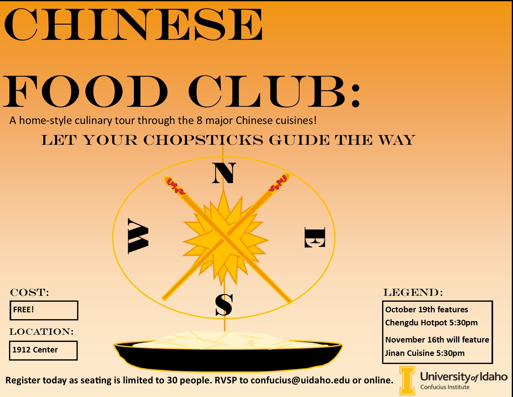 Chinese food Club poster