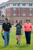 Parents on campus during orientation