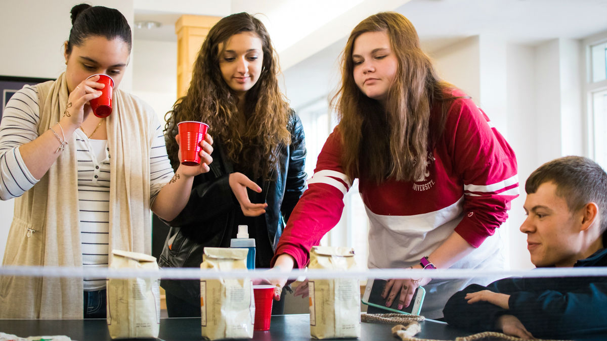 Students having coffee
