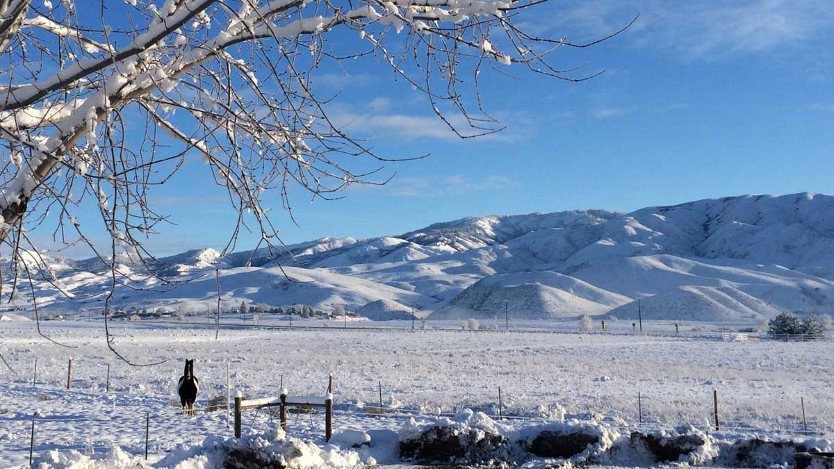 Gem County's winter landscape