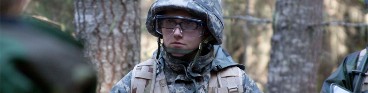 Army ROTC female cadet at Fall 2011 FTX