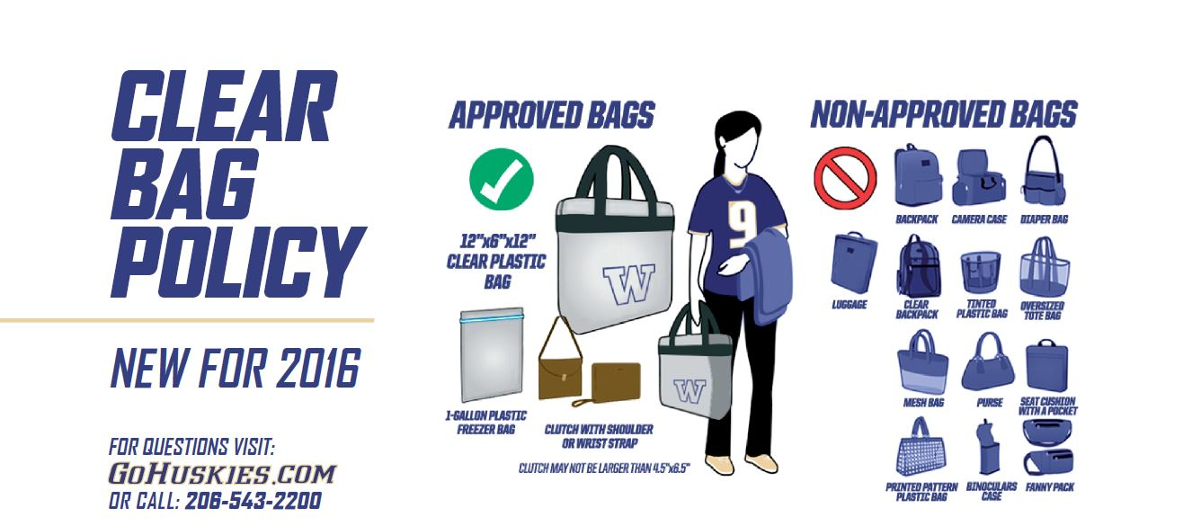 University of Washington Clear Bag Policy