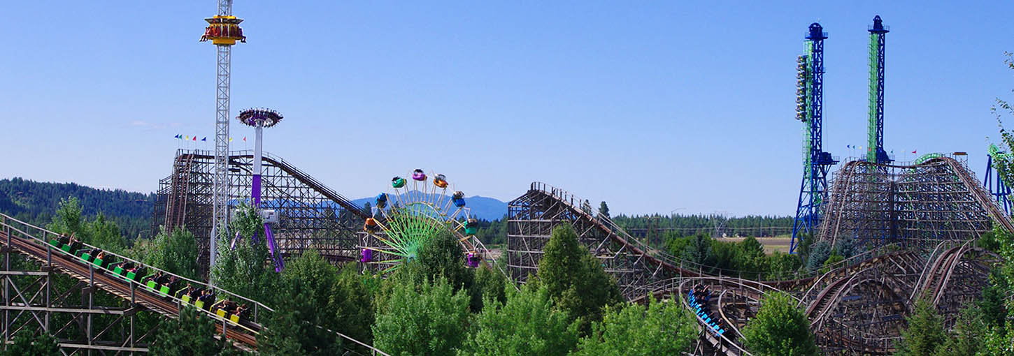 Rollercoasters at Silverwood Theme Park
