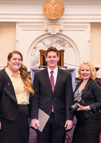 McClure Center interns Ashely Morehouse, Josh-Weistaner and Chloe Rambo