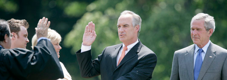 Dirk Kempthorne, swearing-in ceremony
