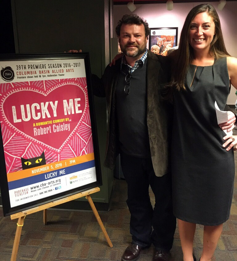 Lucky Me poster, Rob Caisley and Ciara Shuttleworth