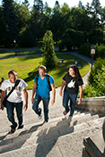 students walk on University of Idaho campus