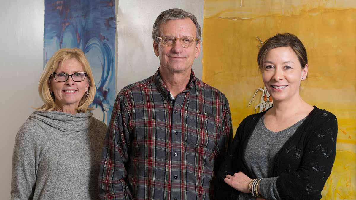 Sally Machlis, Sanford Eigenbrode and Dephine Keim