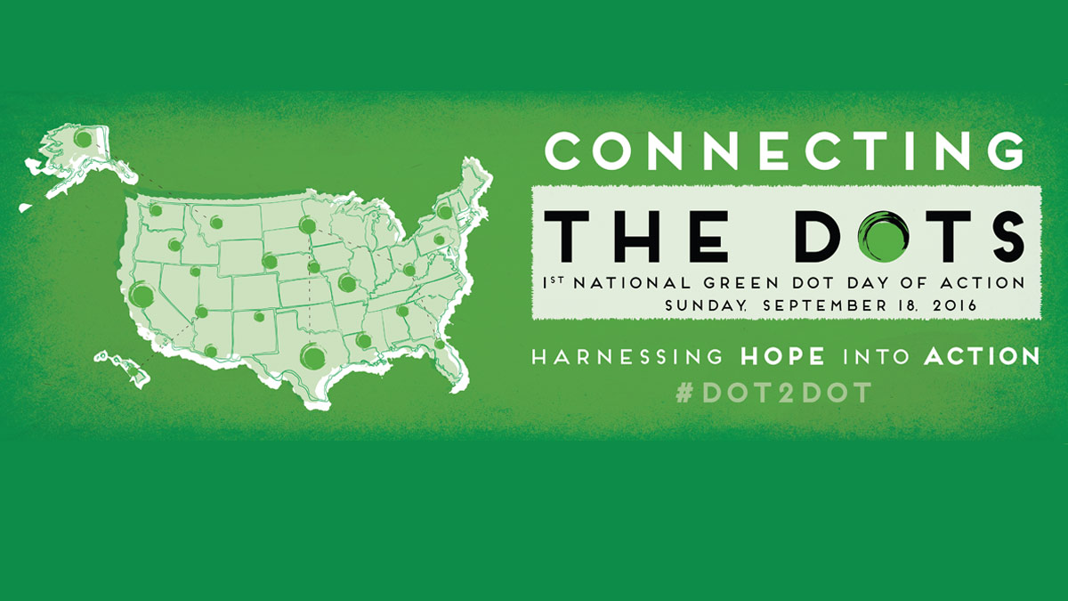 National Green Dot Day of Action Logo